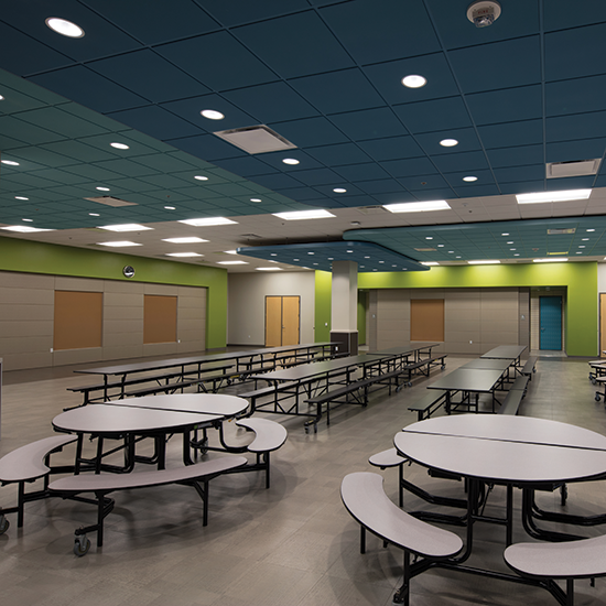 Stockton Collegiate International Schools Multipurpose Room and Offices